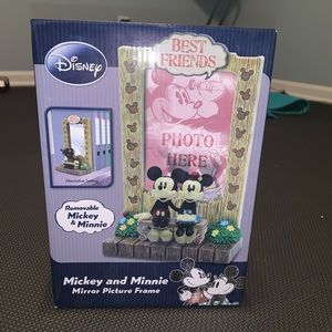 NEW Disney Mickey & Minnie Mirror Picture Frame